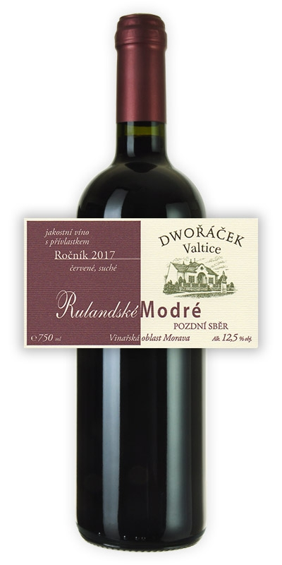Vinařství Dwořáček - Rulandské modré - Červená vína